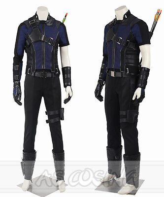 Captain America 3 Civil War Clint Barton Hawkeye Cosplay Costume Any Size Outfit