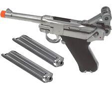 WE Airsoft P08 Luger WWII Handgun GBB Metal Parabellum 1908 DWM Gas Pistol 2 Mag