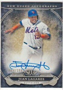 Juan-Lagares-New-York-Mets-2015-Topps-Niveles-Uno-Nuevo-Protector-Autografos