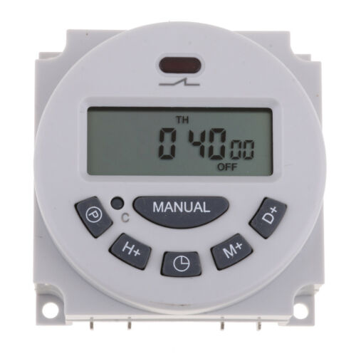 DC 12V LCD Digital Weekly Programmable Power Timer Time Relay Switch