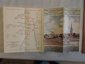 Subway Map Boston Mass.Details About 1928 Bay State Street Elevated Subway Train Boston Mass Brochure Map Timetable