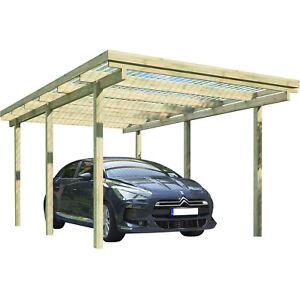 carport elbe 1 einzelcarport 3 04 x 5 10 m flachdach garage unterstand holz ebay. Black Bedroom Furniture Sets. Home Design Ideas