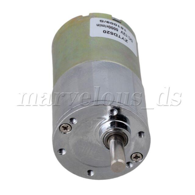 High Torque 12v Dc 30 Rpm Gear Box Electric Motor Replacement 5000r Min