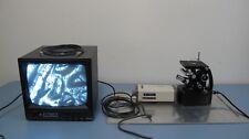 Unitron Mec 7415 Inverted Metallurgical Microscope System W Camera Monitor