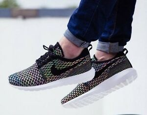 super popular 21389 a1861 Image is loading NIKE-ROSHE-NM-FLYKNIT-MULTICOLOR-677243-013-SZ-