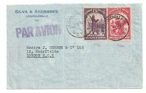 CONGO-BELGE-BELGISH-1937-COVER-LEOPOLDVILLE-TO-LONDON
