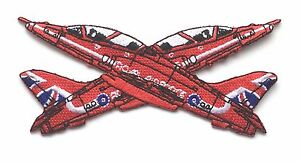RAF Red Arrows Synchro Pair Royal Air Force Military Embroidered Patch
