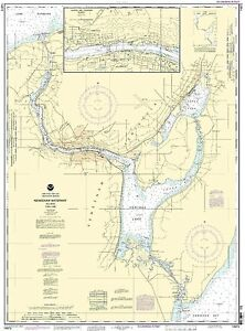 NOAA Chart Keweenaw Waterway, including Torch Lake 27th Edition 14972