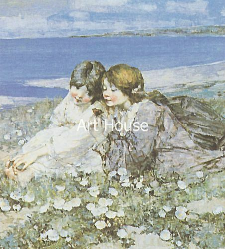 "Hornel /""Seashore roses/"" 70x50cm  Print  2025"