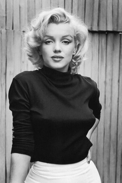 Marilyn Monroe Black White Print Silk POSTER 13x19