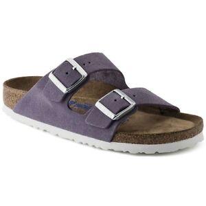 Details zu Birkenstock Damen Sandale Arizona 1003732 lavender Leder Pantolette Weichbett