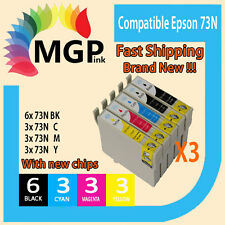 15x Compatible INK for Epson Cartridge73N T0731-4 TX110 CX5500 NX220 TX610F