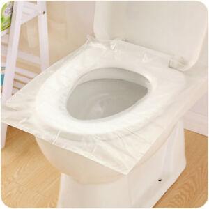 6pcs / set Monouso di sicurezza del sedile del WC della plastica di sicure CRIT
