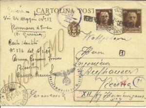 Italy MIRROR IMAGE Postalcard HG:101 uprated Sc#219 ROMANS D''ISONZO GORIZIA