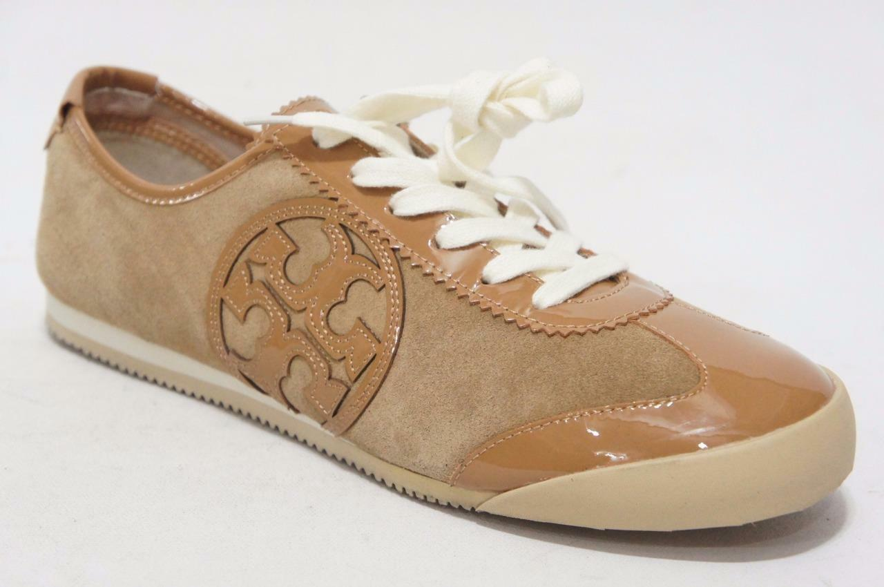 TORY BURCH MURPHEY SNEAKER TAN SUEDE LEATHER SHOES 10  175
