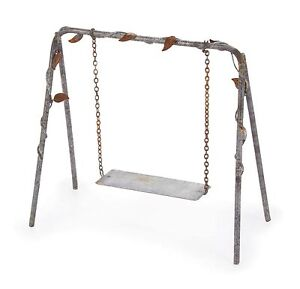 Details About Doll House Swing Set Rustic Zinc Fairy Slide Gnome Slide 4 8 Tall