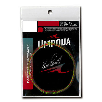 UMPQUA PARROTT/'S ULTIMATE EURO 15/' FT 6X 3.5 LB SINGLE PACK FLY FISHING LEADER