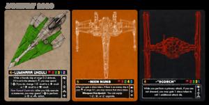 Luminara Unduli Nien Numb Scortch X-wing FFG Star Wars PLR Alternate Art Card