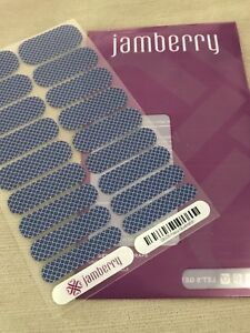 """Details about Full Sheet Jamberry """"Navy Quatrefoil"""" GEO5 Nail Wraps -NEW in  Original Packaging"""