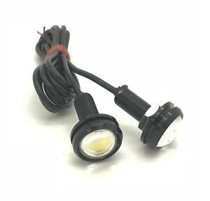 Xenon-White-10W-High-Power-23mm-LED-Eagle-Eye-Spot-DRL-Marker-Lights-Bolt-Black