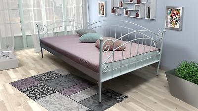 Tagesbett Metallbett 70x200 Sofa weiß schwarz Bett mit Lattenrost