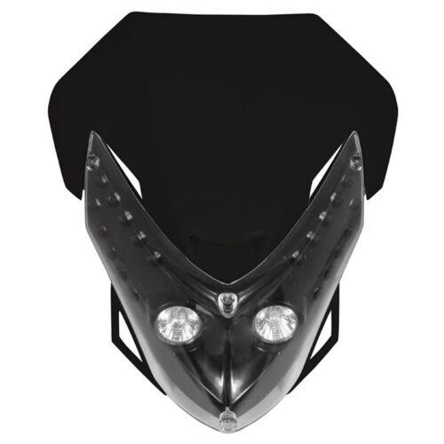 Lampenmaske universal Spectre mit LED-Scheinwerfer  schwarz