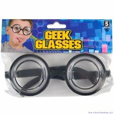 9b50cdef2a 50 s Nerd Geek Dork Glasses Thick Lens Kids Shades Costume Coke Bottle  Frame GaG