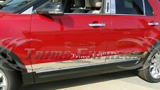 "2011-2017 Ford Explorer 6Pc Chrome Rocker Panel Trim Body Side Moulding 4"""