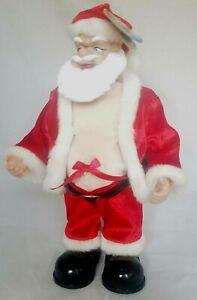 Vintage-Animated-Santa-Claus-Shaking-His-Belly-Dancing-Singing-Shout-Song-Nwt
