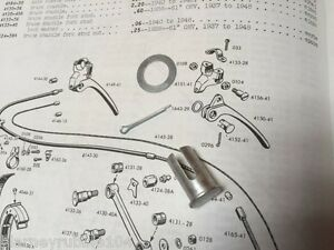 Details about Harley Knucklehead UL WLA 1941-48 Hand ke Lever Cable on