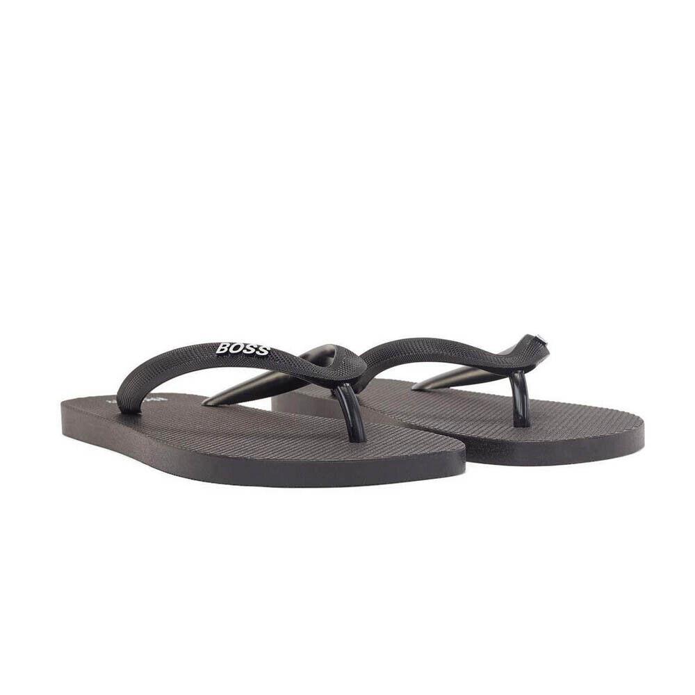 Hugo Boss Men's Flip Flops Pacific Summer Beach Flip Flops Sandals in Black