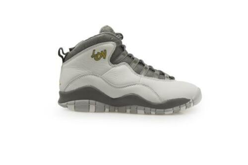 JUNIORS Nike Air Jordan 10 Rétro BG 310806004 Gris Baskets Or