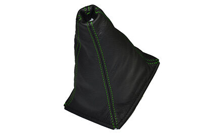 FITS ROVER 200 25 96-02 LEATHER GEAR STICK GAITER GREEN DOUBLE STITCH