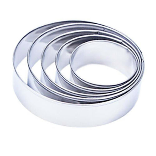 5 Pcs Mini Round Mousse Cake Food Grade Stainless Steel Cookie Cutter Rings Mold