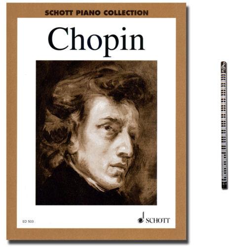 Piano-Bleistift 9790001031448 Chopin Ausgewählte Klavierwerke Schott Verlag