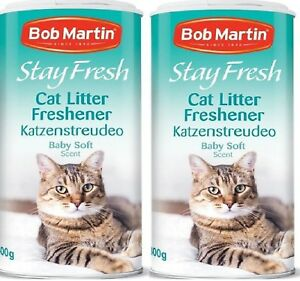 BABY-SOFT-LITTER-FRESHENER-800ml-400ml-x2-Bob-Martin-bp-Cat-Tray-Powder