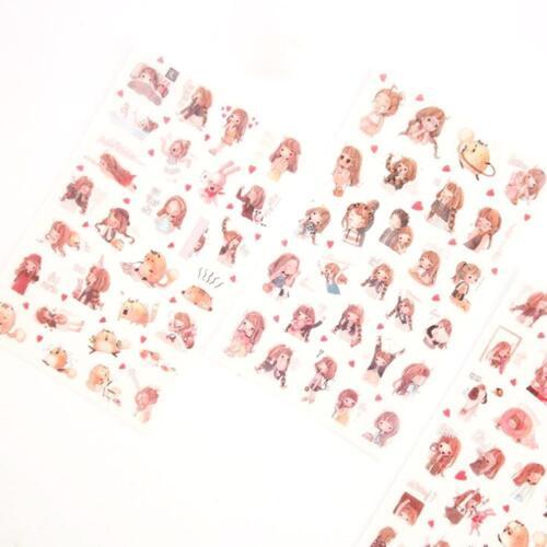 6 X Cartoon Girls Decorative Sticker Diary Album Label Sticker Scrapbook^\