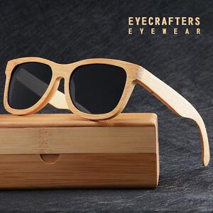 100% Handmade Natural Bamboo Wood Sunglasses Mirrored Wooden Glasses Polarized 2
