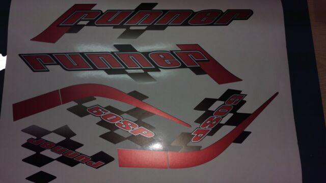 Gilera Runner 50 sp new shape sticker set, RED SOUL (black soul, white soul REP)