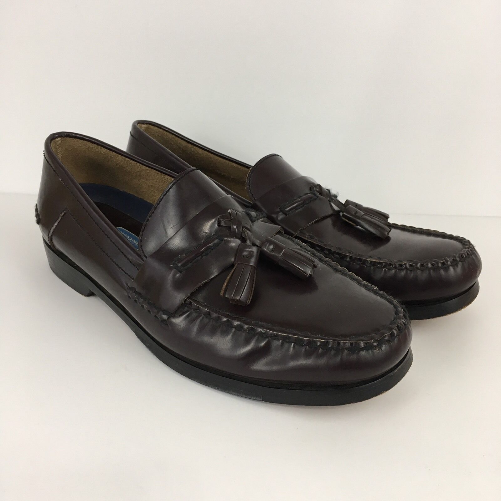 Bostonian Stadium Sz 10.5M Oxblood Flex Tassel Loafer With First Flex Oxblood Sole 3d5649