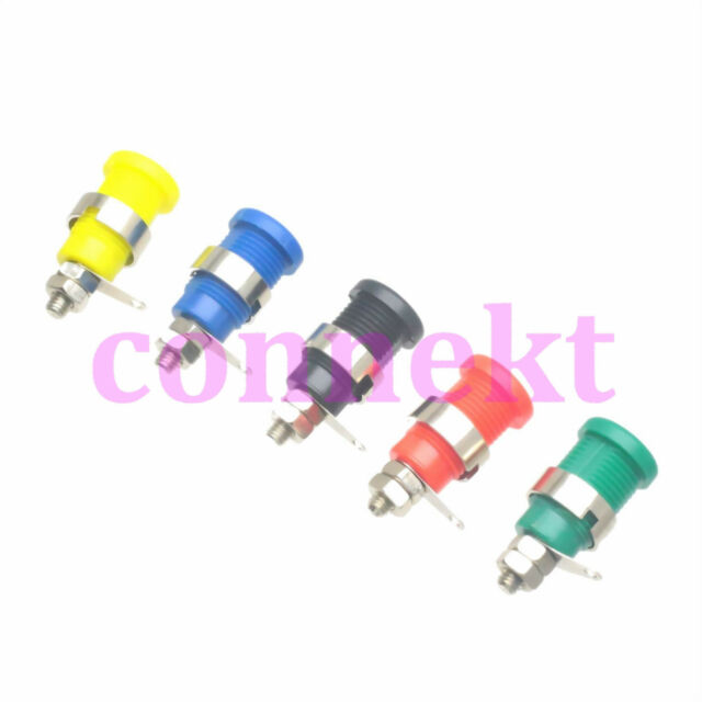 1set 5pc 5 Colors Connector M12 Binding Post 4mm Banana Jack Female Audio Power