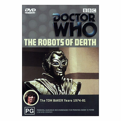 Doctor Who: The Robots of Death DVD Brand New Region 4 Aust.  Tom Baker
