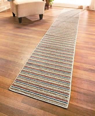 Extra Long Striped Nonslip Floor Runner Rug Spice Sand Gray 60