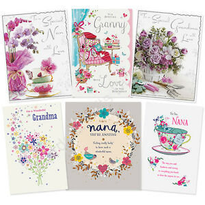 Details About Grandma Granny Nan Nana Nannie Nanny Happy Birthday Card Greeting Cards