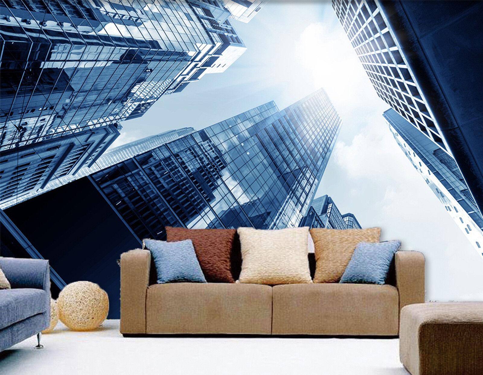 3D Hochhaus  Gebude Fototapeten Wandbild Fototapete Bild Tapete Familie Kinder
