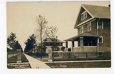 RPPC Chicago OAK PARK Clinton&Congress Street—Antique Photo Craftsmen Home~1910