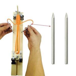 2pcs Steel Paracord Needle Umbrella Rope Stitching Weaving Ne T1Y5