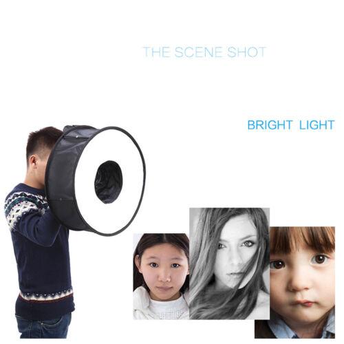 "18/""//45cm Photo Ring Speedlight Softbox Round Diffuser For Speedlite Flash Li~G2"