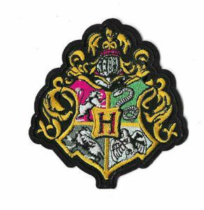 HOGWARTS-BLACK-CREST-Iron-on-Sew-on-Patch-Embroidered-Badge-Harry-Potter-PT493