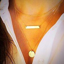 Bridalvenus Gold Layered Long Choker Alloy Bar Necklace Layering Women Make Up